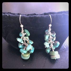 Jewelry - Silver Turquoise Drop Earrings